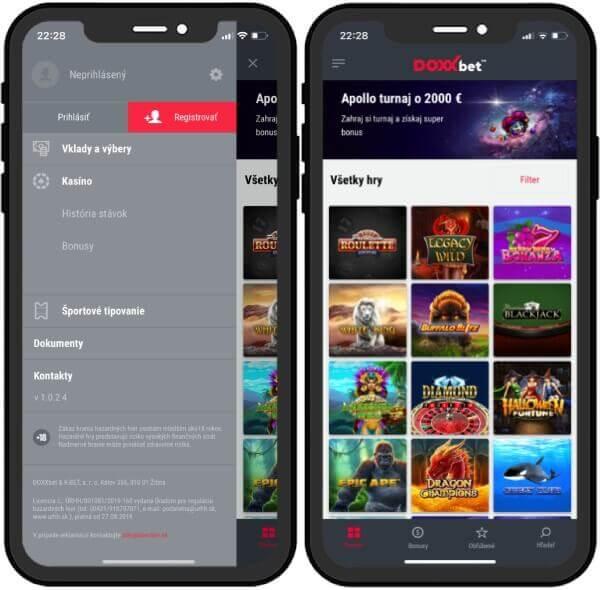 Doxxbet casino online registrácia v mobile