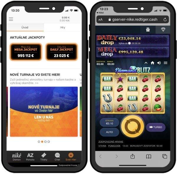 Niké casino Svet hier zadarmo na mobile